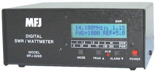 MFJ-826B SWR Meter, 1 8-54MHz, 1500W, digital - Import It All