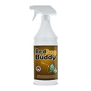 Bed Bug Killer & Residual Prevention By Bed Bug Buddy - Natural Bed Bug Spray Certified By AAES & Pesticide Exempt By EPA - Used By Professionals & Health Facilities - Child & Pet Safe - 32oz
