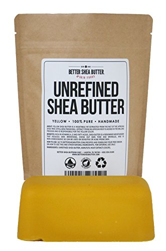 - Yellow Shea Butter - Raw, 100% Pure, Unrefined, Fresh - Moisturizing, Ideal for Dry and Cracked Skin and Eczema - Use on Body, Face and Hair - 1 LB by Better Shea Butter