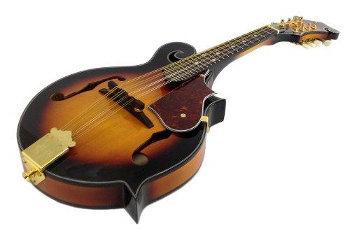 8-String MANDOLIN F-Style SUNBURST TOBACCO Sandalwood Gold Hardware by EDMBG