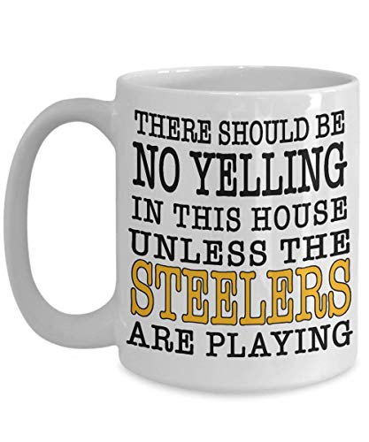 (Steelers Fan Game Day Coffee Mug | If You're From Pittsburgh and Love Your Football Team This Large 15oz or Smaller 11oz Ceramic Cup Is For You )