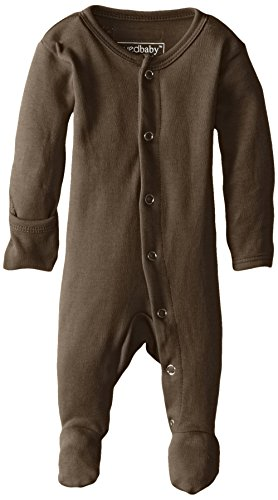 L'ovedbaby Unisex-Baby Organic Cotton Footed Overall, Bark, 0/3 -