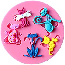 1 piece 5even Cat Shaped Silicone Cake Mold Kitchen Baking Mold Chocolate Cakes Decoration Confectionery Tools Sugar Craft Fondant Cake