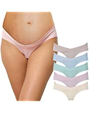 INNERSY Womens 5-Pack Maternity Cotton Panties Underwear