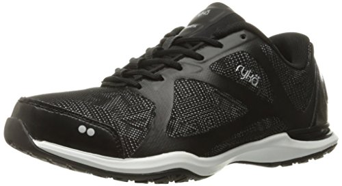 Ryka Women's Grafik Cross-Trainer Shoe, Black/Grey, 10 M US