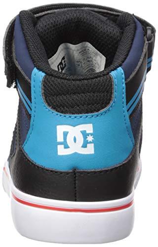 902c9be403 DC Boys' Pure HIGH-TOP EV Skate Shoe, Blue/Black/RED, 11 M M US ...