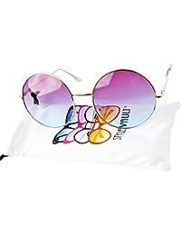 V129-vp Round Oversize Lens Metal Sunglasses