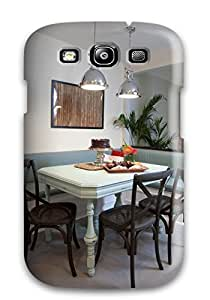 GFoCtxj1958AztNK ManuelAW Awesome Case Cover Compatible With Galaxy S3 - Banquette And Pendant Lighting And Painted Gray Floor Tile