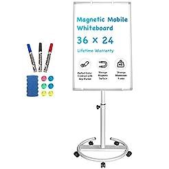 Mobile Whiteboard - 36 x 24 inches Porta...