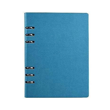 Agenda de piel tamaño A6 con anillas, 150 páginas, color ...