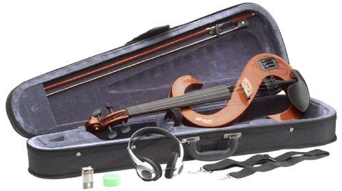 Stagg EVN 4/4 VBR Silent Violin Set with Case - Violinburst