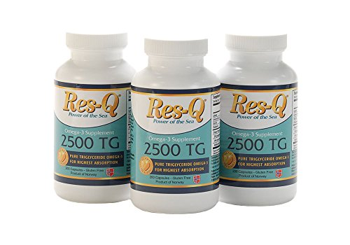 Res-Q 2500 TG Omega-3 Fish Oil 200 Mini Gel Capsules 3-Pack by ResQ