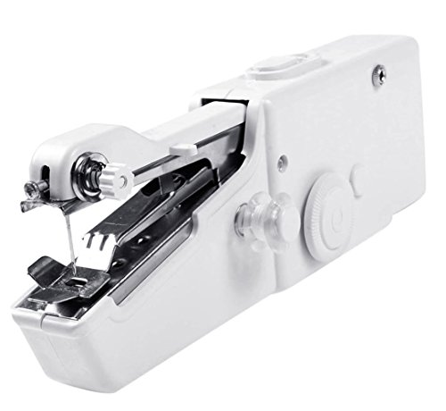- Siensync Handheld Sewing Machine - Portable Household Quick Handy Stitch Tool Great for Traveling or Use in Home Includes Threads Needles Accessories