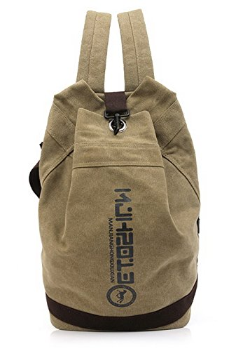 Agoolar Women Canvas Backpacks Hiking Backpacks Daypack Style Cube, Brown Gmxbb181155