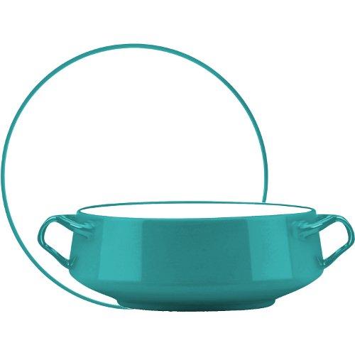 Dansk Kobenstyle Teal Stoneware Serving Bowl and Platter