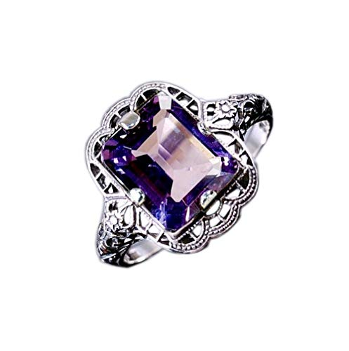100% natural gemstone ring in 925 sterling silver precious stone jewelry for -
