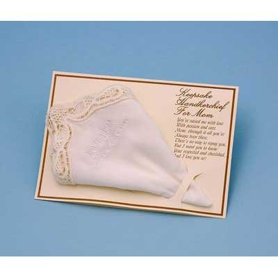 - Mother of the Groom Handkerchief - WHITE