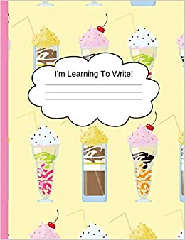 Amazoncom Primary Handwriting Notebook Milkshake Early Education