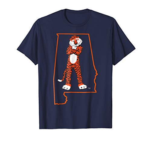 Auburn Tigers Aubie In State Outline T-Shirt - Apparel