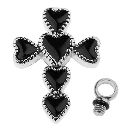 (Stainless Steel Jewelry Pendant Ash Holder Pet Memorial Keepsake Human Pet Necklace Jewelry Crafting Key Chain Bracelet Pendants Accessories Best )