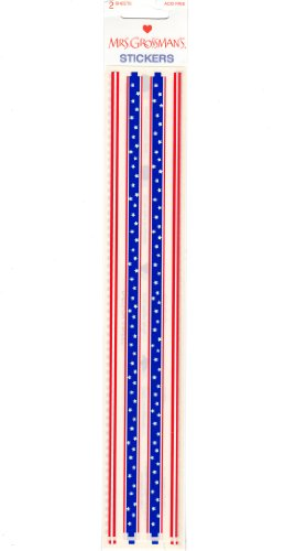 4th of July Patriotic Design Line Borders Scrapbook Stickers (28263)