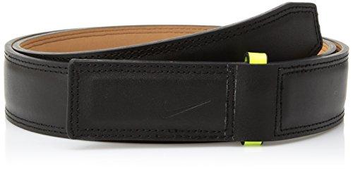Nike Men's Sleek Modern Covered Plaque Belt, black/volt, 42