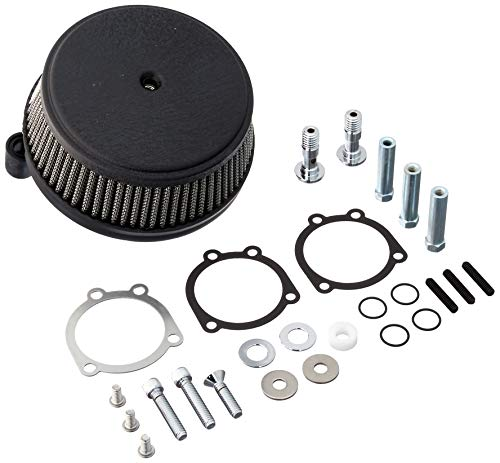 Arlen Ness 50-339 Black Big Sucker Stage I Air Filter Kit with Cover ()