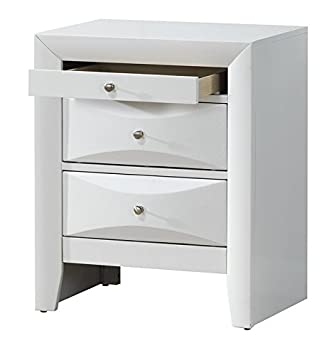 cheap for discount f3d68 b9dc4 Modern Design 3 Drawer Bedside Table with Delicate Chrome ...