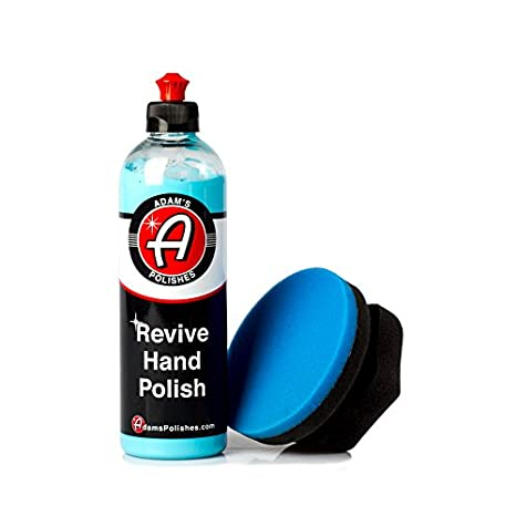 Adam's Revive Hand Car Polish 16oz - Adds Depth, Gloss and Clarity - Revive Your Finish by Hand (Combo) Adam' s Polishes