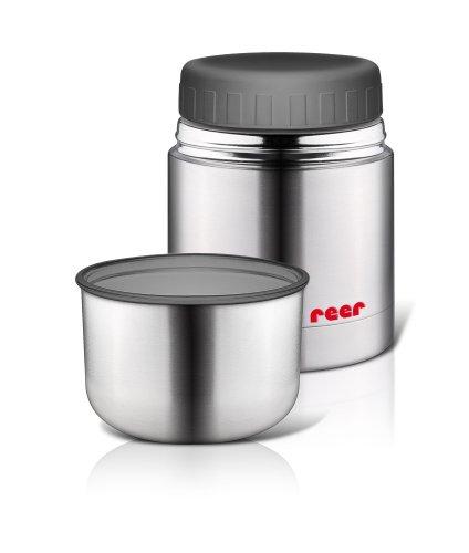 Reer 90430 - Bote termo de acero inoxidable para alimentos infantiles con cuenco (350 ml)