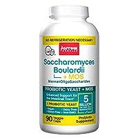 Jarrow Formulas Saccharomyces Boulardii + MOS, 5 mil millones de células por cápsula, promueve la salud intestinal y digestiva, 90 cápsulas vegetarianas