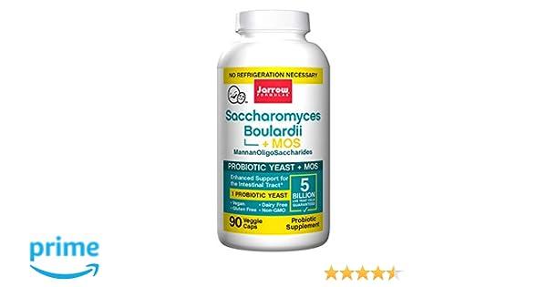 Jarrow Saccharomyces Boulardii Plus MOS (5 Billion per Capsule, 90 Capsules): Amazon.es: Salud y cuidado personal