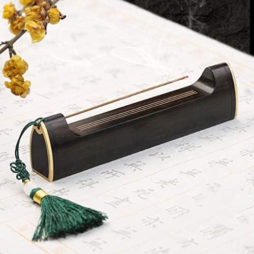お香立て 香炉禅銅ウッドライン香炉ホルダーホームデコレーションギフト横たわるアンティークコッパーロックポータブル香 逆流香ホルダー