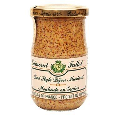 Grain Mustard Fallot French Dijon old fashioned mustard Mustard-7oz jar, One by Edmond Fallot by Edmond Fallot