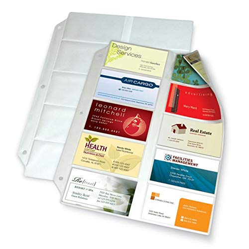 (Office Depot Business Collection Card File Binder Refill Pages, 8 1/2in. x 11in, Pack Of 10, 7856)
