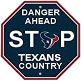 "NFL Houston Texans Stop Sign, 12"" x 12"""