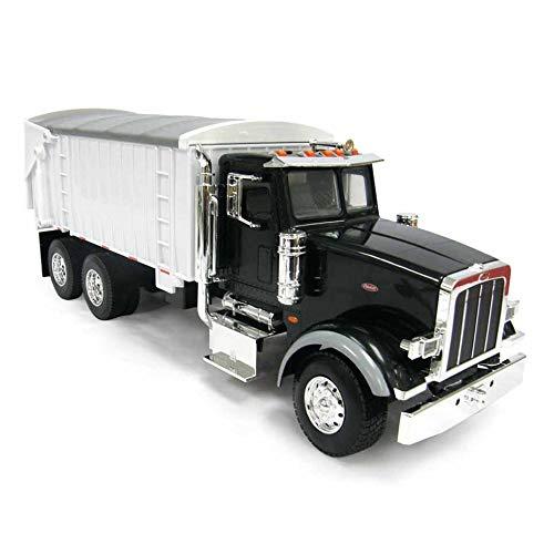 (ERTL 1/16th BIG FARM Peterbilt 367 Truck with Grain Box in Black)