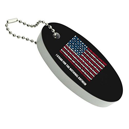 I Stand USA National Anthem Star-Spangled Banner American Flag Patriotic Floating Foam Keychain Fishing Boat Buoy Key Float