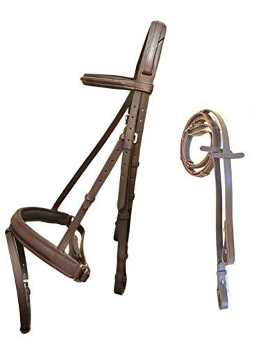 - SIE English Crank Noseband Bridle with Reins Black/Brown (Plain Brown Bridle)