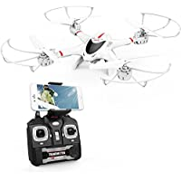 DBPOWER MJX X400W FPV Drone WiFi Camera Live Video Headless Mode 2.4GHz 4 Chanel 6 Axis Gyro RTF RC Quadcopter, Compatible 3D VR Headset
