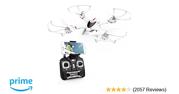 DBPOWER X400W FPV RC Quadcopter Drone with WiFi Camera Live Video One Key  Return Function Headless Mode 2 4GHz 4 Chanel 6 Axis Gyro RTF, Compatible