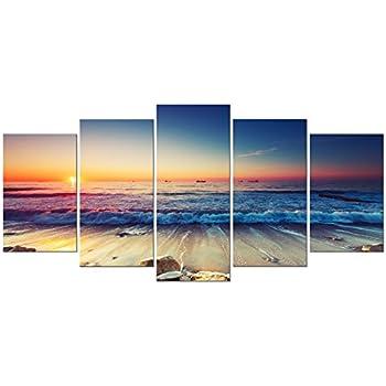 Amazon.com: Picture Sensations Framed 5-Panel canvas Art Print ...