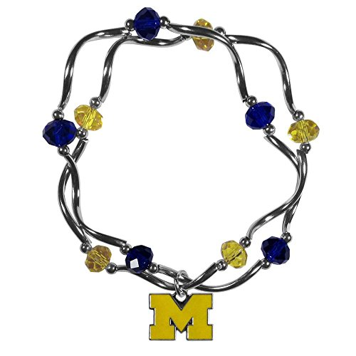 - Siskiyou NCAA Michigan Wolverines Crystal Bead Bracelet