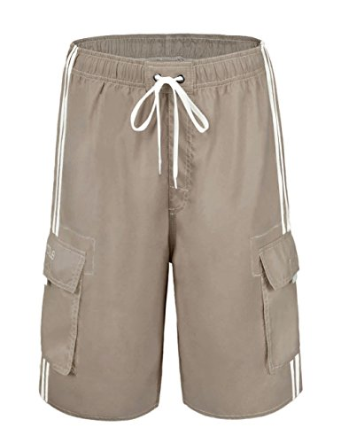 a38cdf18a1 NONWE Men's Swimwear Lightweight Board Shorts with Lining Khaki 40 - Buy  Online in Oman. | Misc. Products in Oman - See Prices, Reviews and Free  Delivery in ...