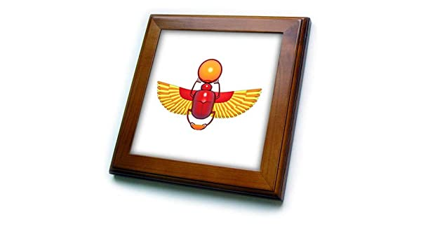 Egyptian 3dRose Macdonald Creative Studios a Good Luck Symbol Colorful Egyptian Scarab Beetle heiroglyph - T-Shirts