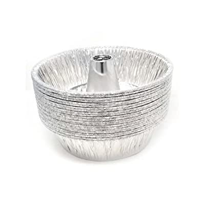 """Disposable Round Cake Baking Pans - Aluminum Foil Bundt Tube Tin Great for Baking Decorative Display, Parties 10"""" Round"""