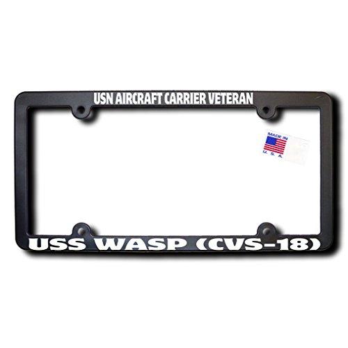 USN Aircraft Carrier Veteran USS WASP (CVS-18) License Frame