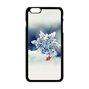 Clear snowflake and red crane Phone Case for Iphone 6