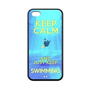 MMZ DIY PHONE CASEDiyCaseStore Keep Calm and Just Keep Swimming Redux iphone 6 plus 5.5 inch New Style Durable Case Cover