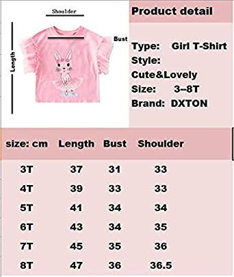 DXTON Girls Cotton Crewneck Solid Tops Long Sleeve T-Shirt